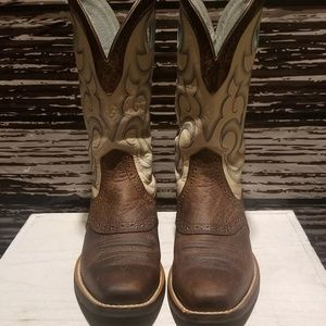 Women's Ariat Rawhide Square Toe Cowboy Boots